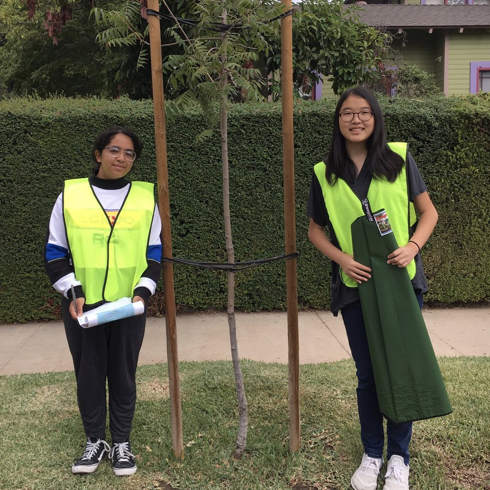 Two South Pasadena High School outreach volunteers