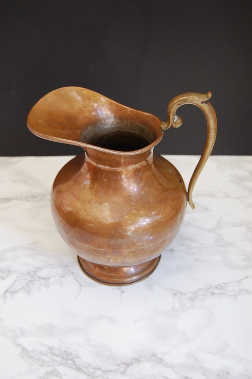 Vintage Copper Pitcher Vase Made In Mexico The Design Nomad