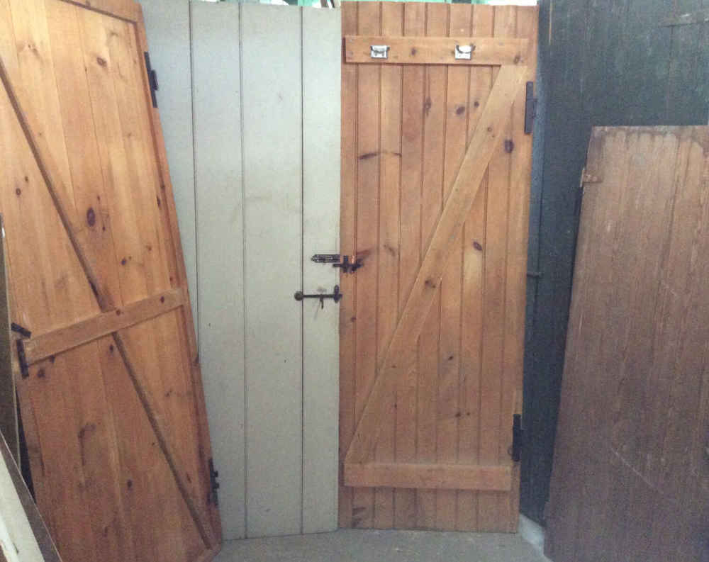 Selection of Beadboard & V Match Camp Doors