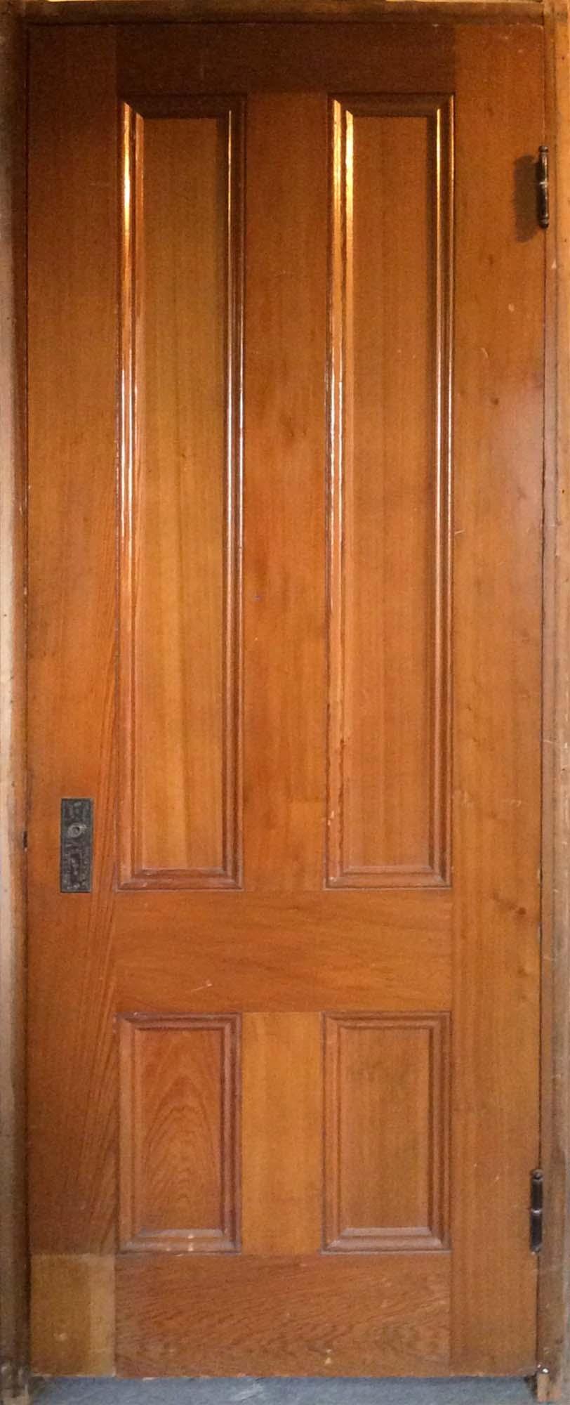 Natural Varnished 4-Panel Door
