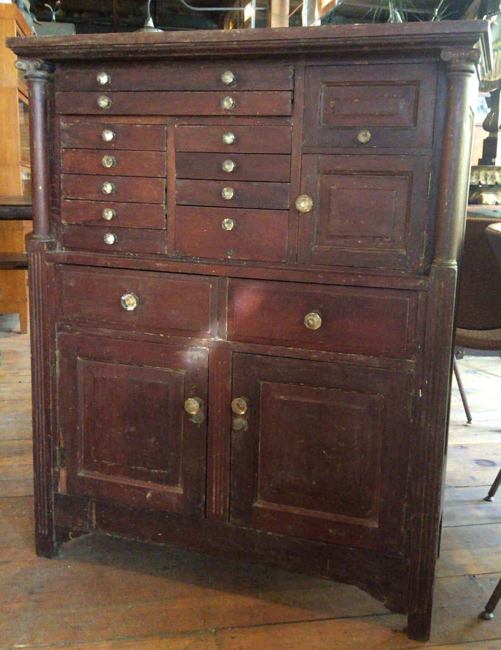 Antique Mahogany Medical/Dental Cabinet