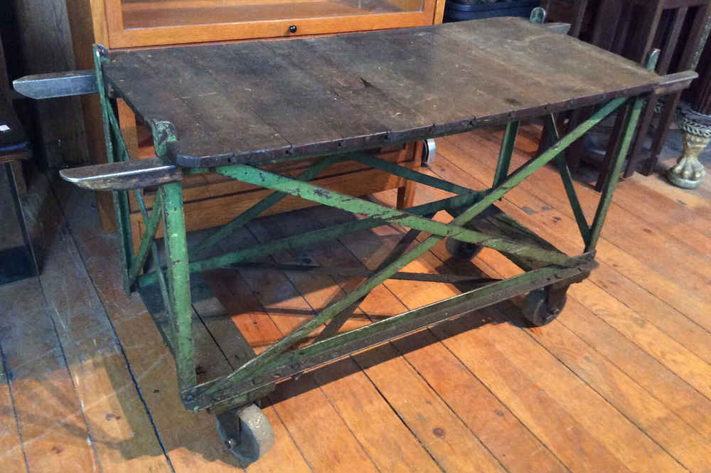 Early Iron Factory Cart