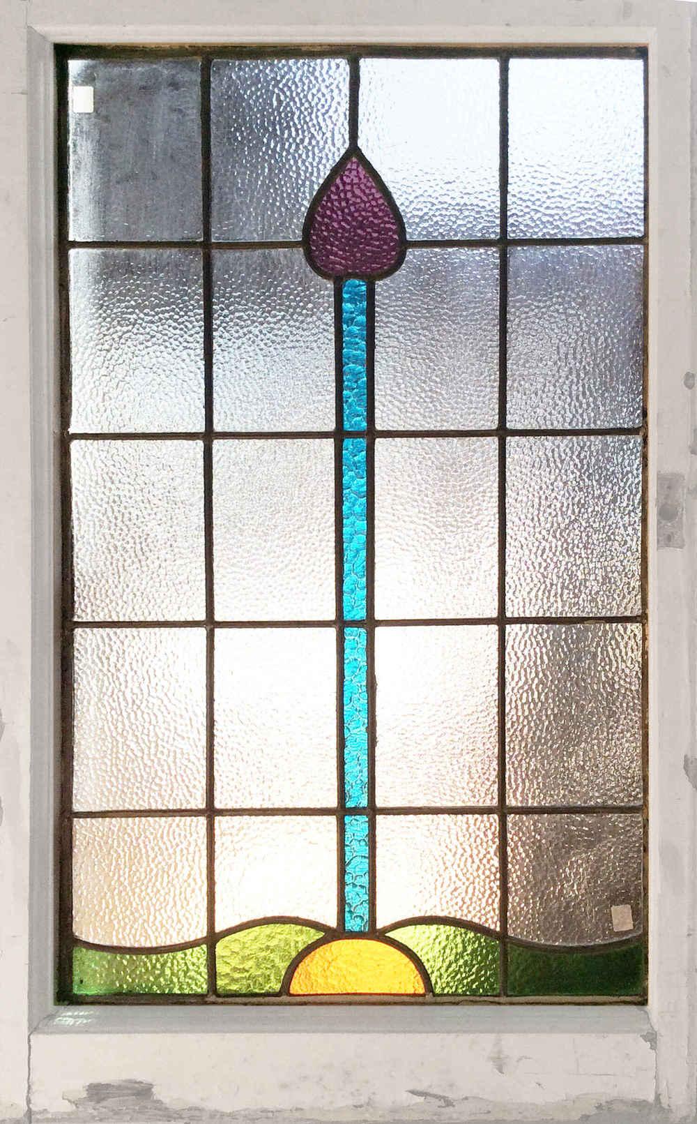 English Art Deco Glass Window
