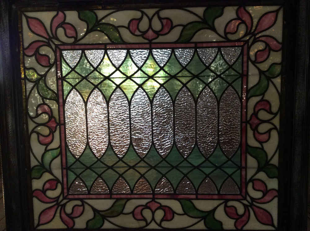 SOLD!! Victorian Stained Glass Window