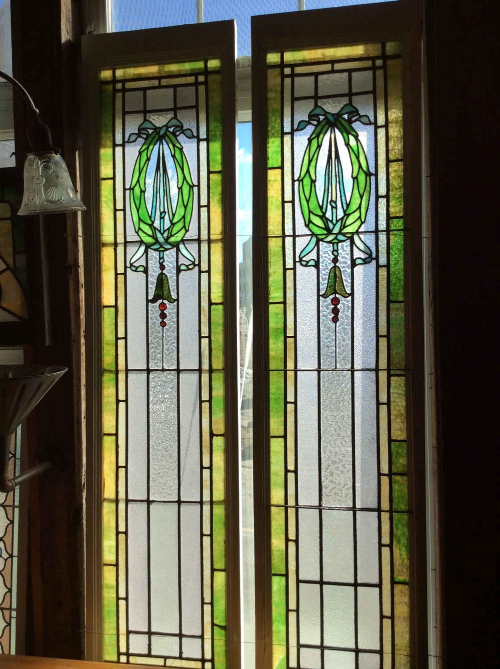Pair of Victorian Sidelights