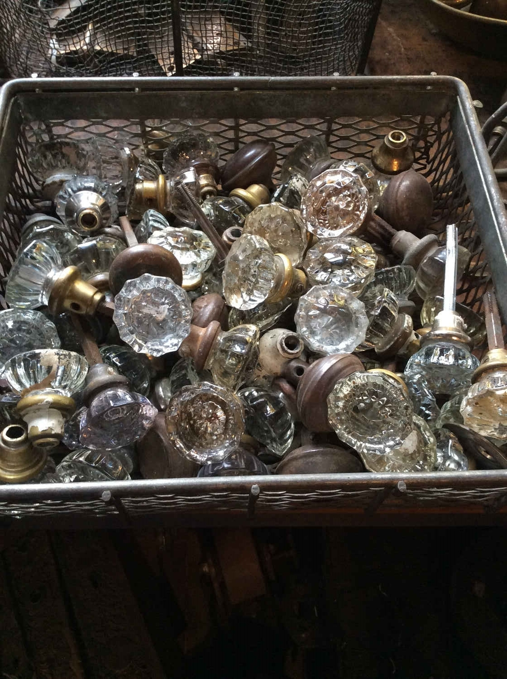 Faceted Glass Doorknobs