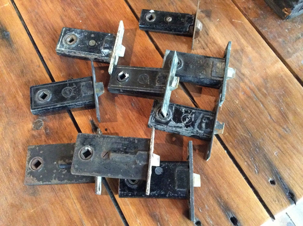 Small Antique Mortise Door Latches - All Hardware — Portland Architectural Salvage