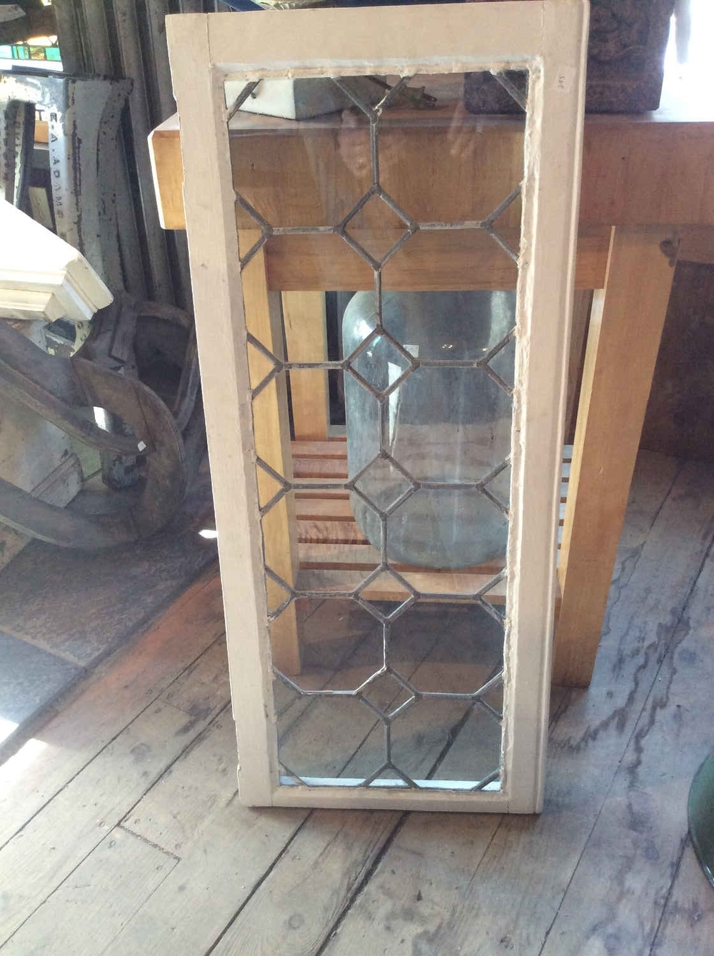 Leaded Glass Transom or Cabinet Door