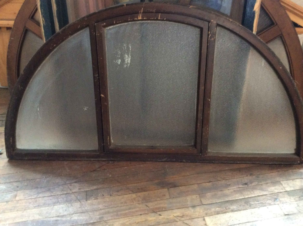 Arched Privacy Glass Transom