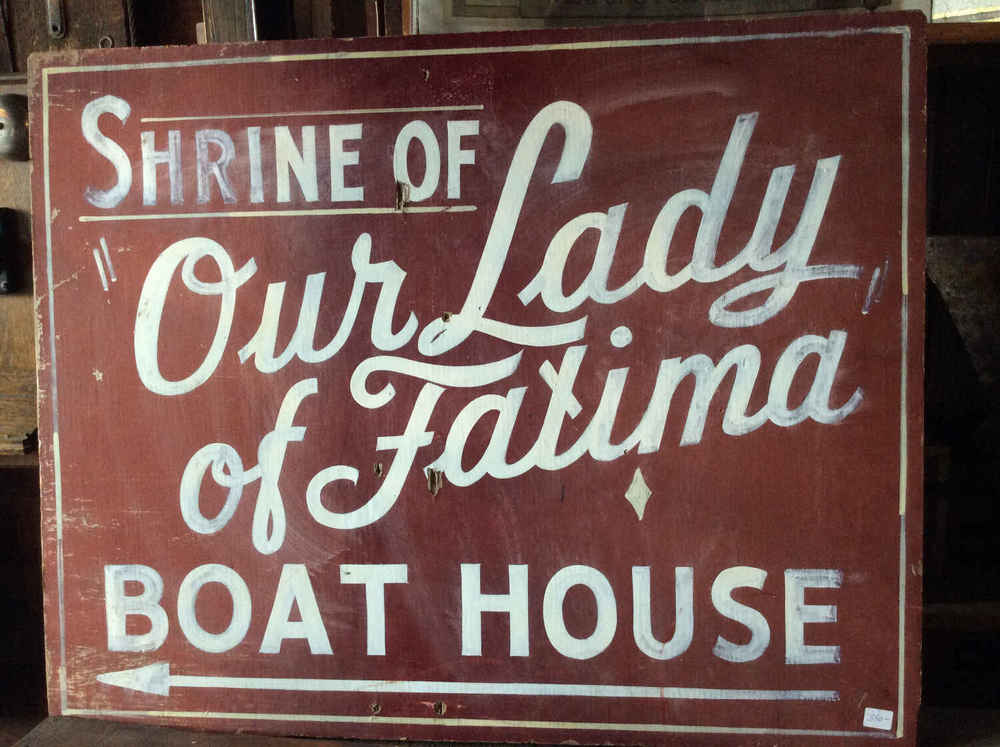 "Vintage Sign ""Shrine of Our Lady of Fatima"""