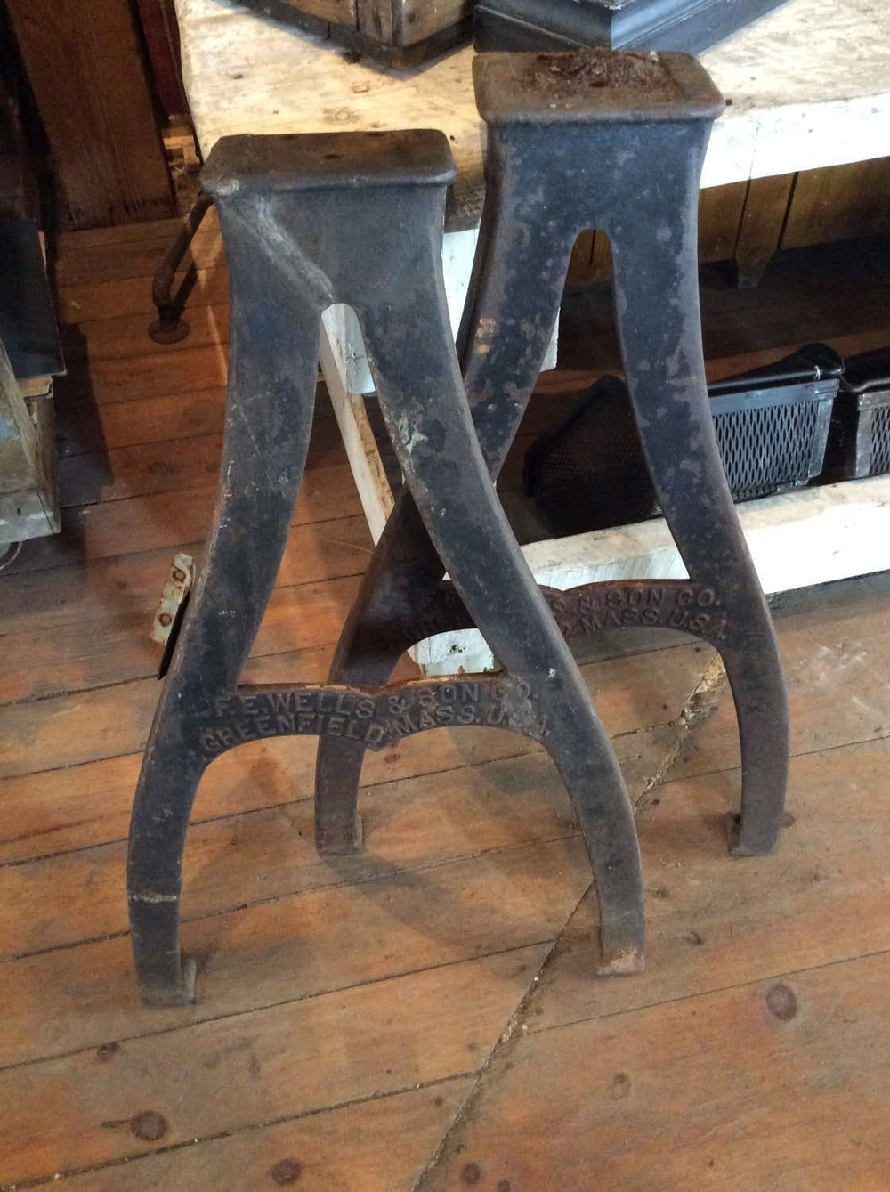 Antique Cast Iron Machine Legs