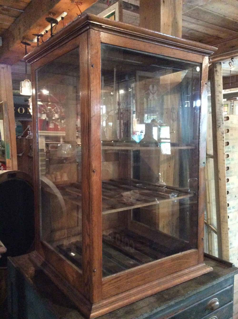 Antique Oak Bakery Case