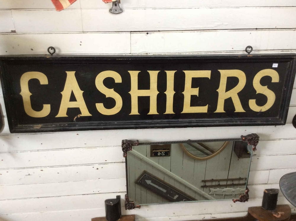 circa 1920 Antique Cashiers Sign