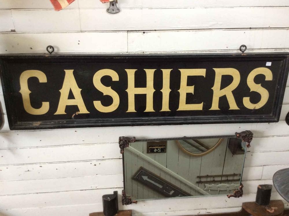 CA 1900 Antique Cashiers Sign