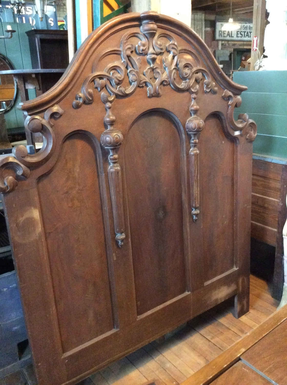 Victorian Walnut Headboard