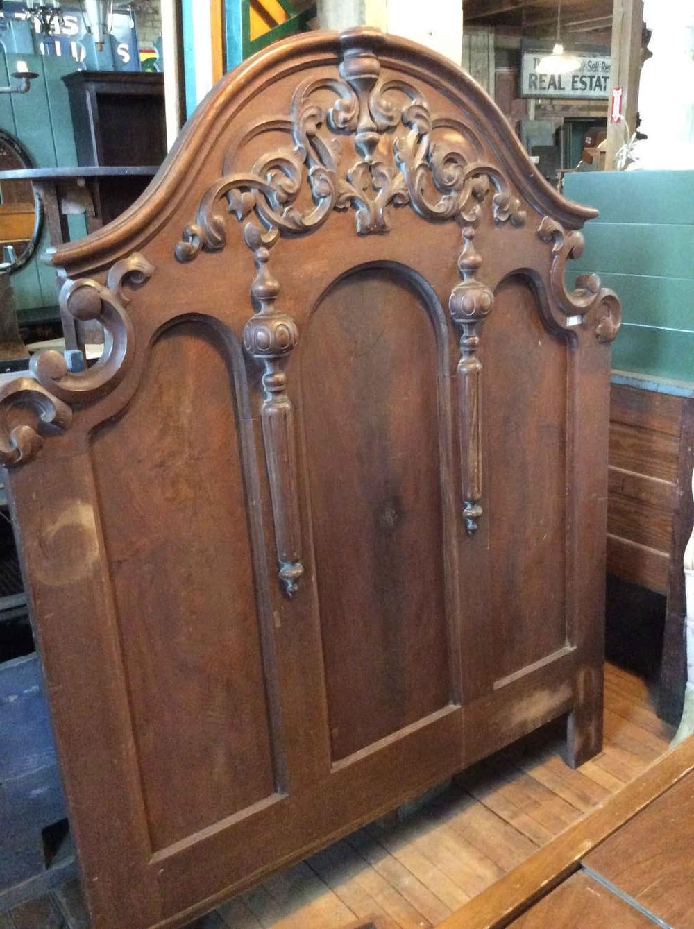 Victorian Walnut Headboard