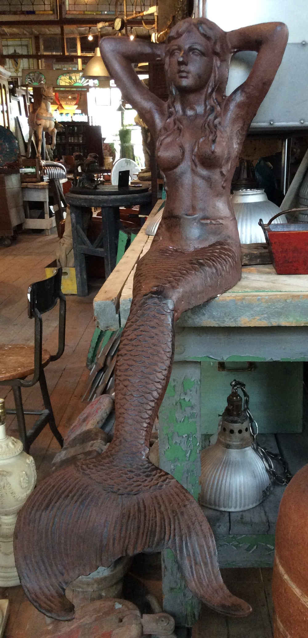 SOLD! Sitting Mermaid Statue