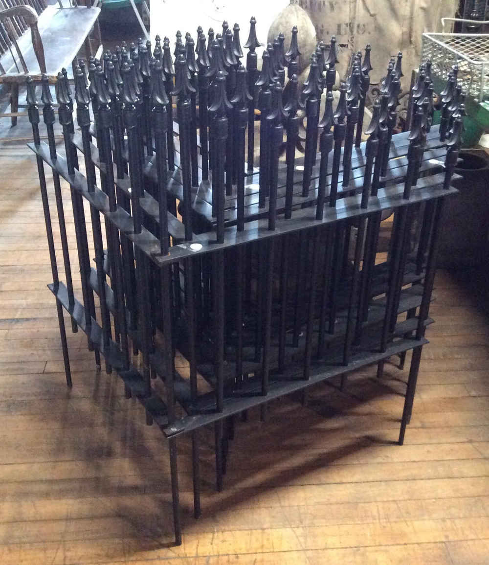Graduated Arrow Wrought Iron Corner Fence Sections