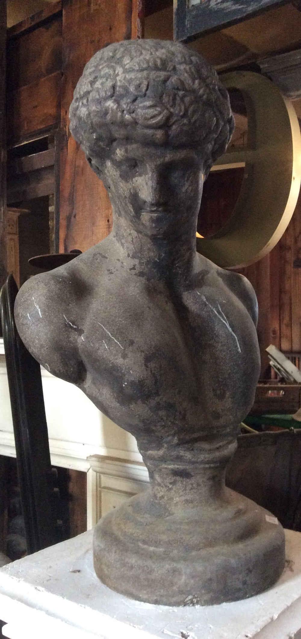 Cast Stone Bust of David