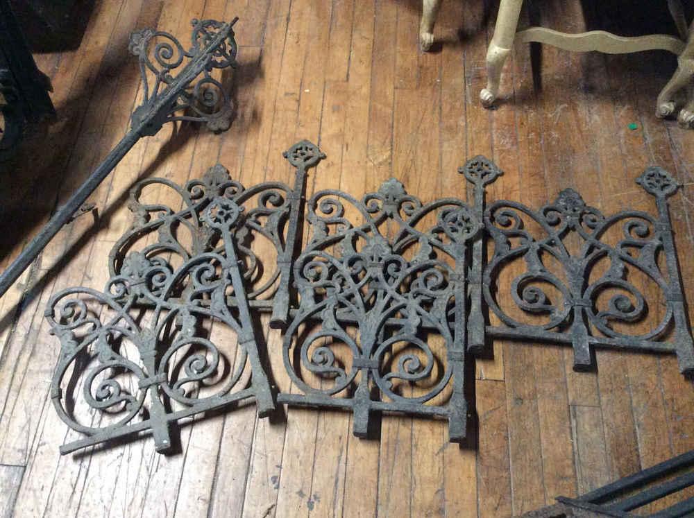 """Antique Cast Iron """"Widows Walk"""""""