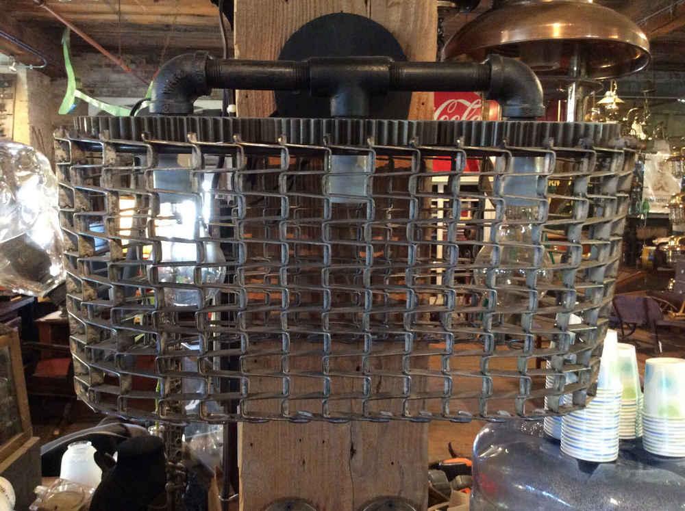Cleveland Arts Triple Light Conveyor Belt Wall Sconce