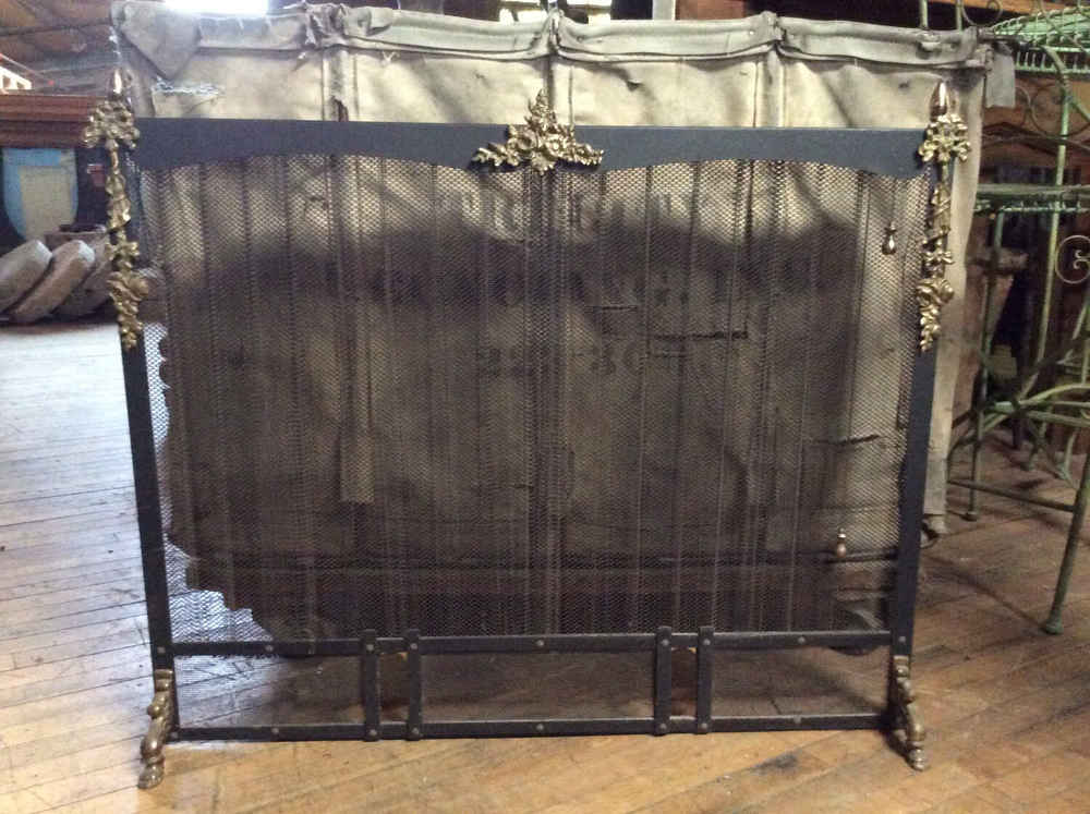 SOLD Early Iron Fireplace Screen