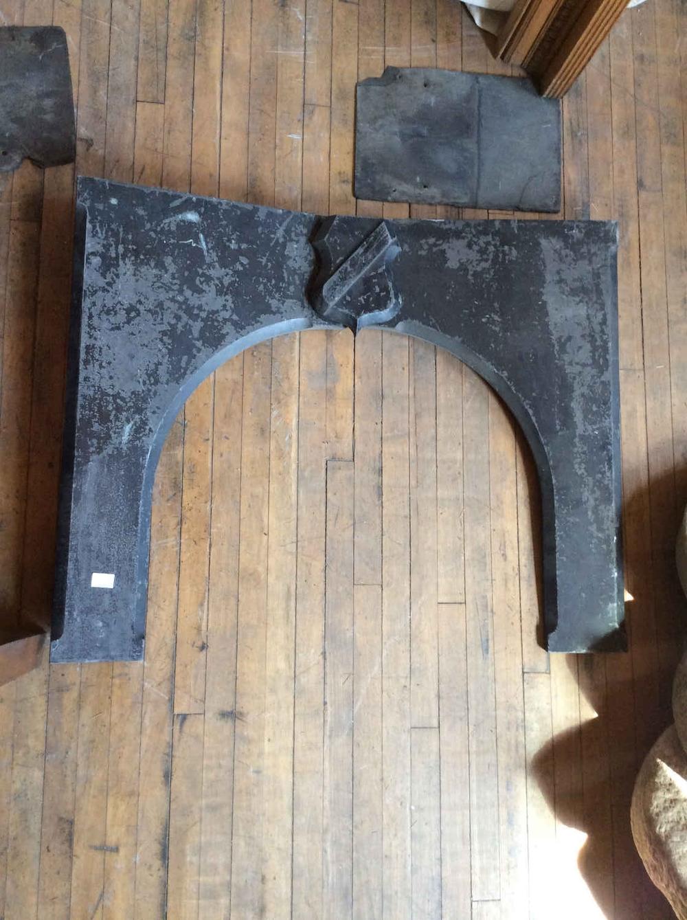 Antique Slate Mantel Front