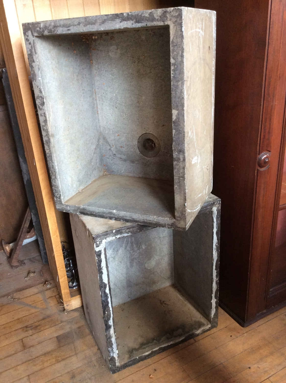 SOLD! Pr. Antique Soapstone Sinks
