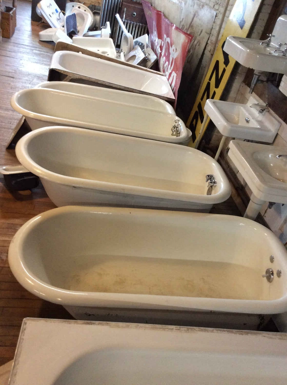 Porcelain Over Cast Iron Claw foot Tubs