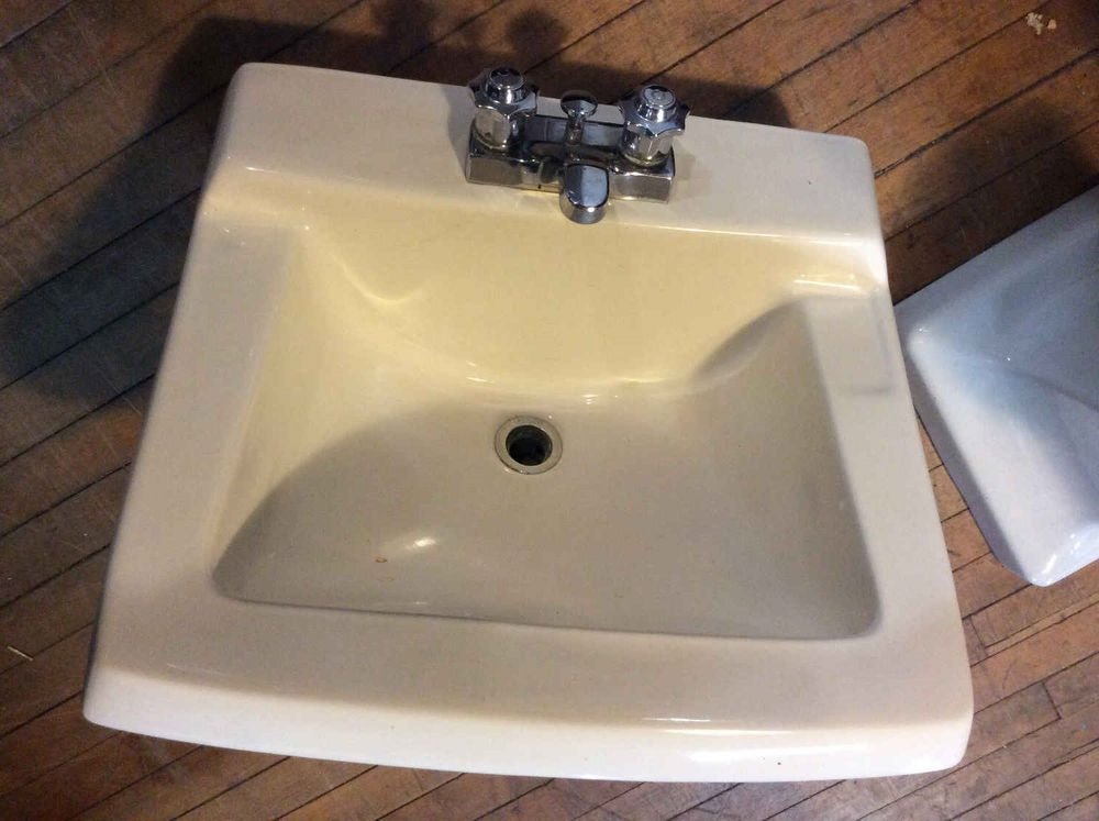Vintage Vitreous China Sink/Faucets