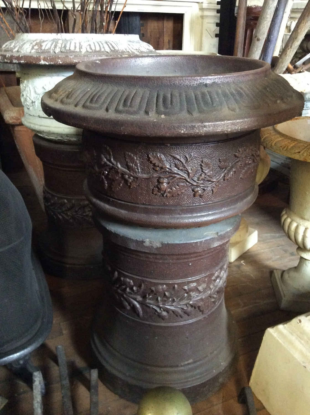 SOLD! Antique Portland Stoneware Oak leaf Planter