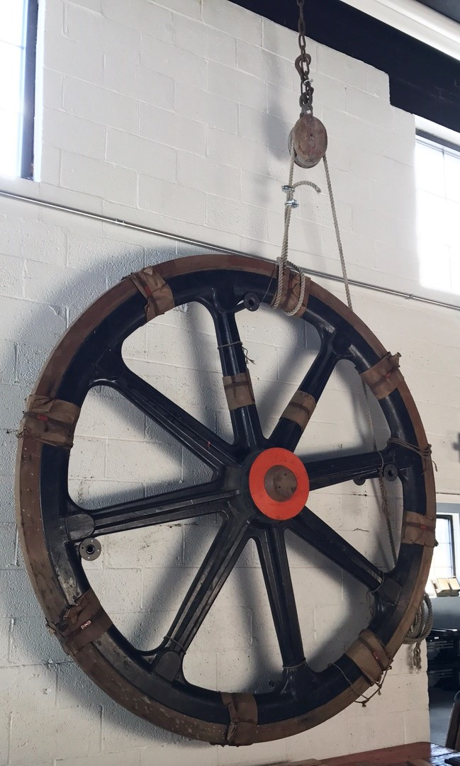 8 foot wooden wheel!