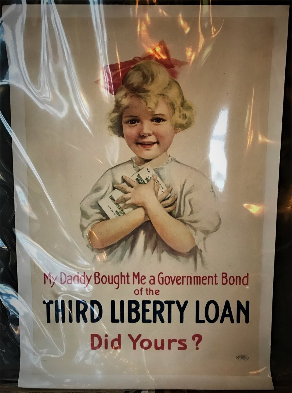SOLD Antique Liberty Loan Poster
