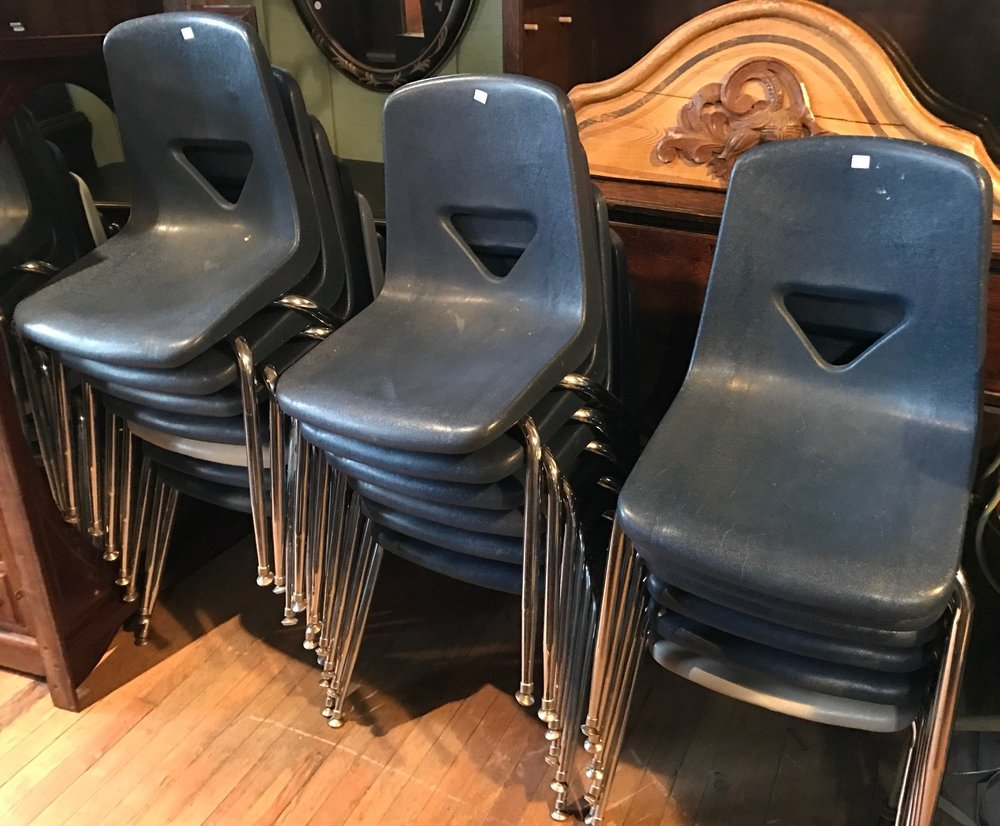 Vintage Stackable Classroom Chairs