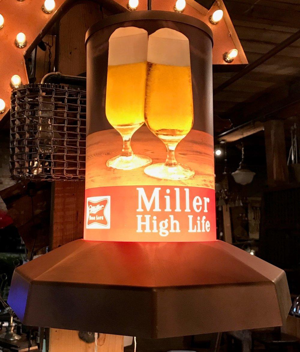 Miller High Life Bar Pendadnt Lamp