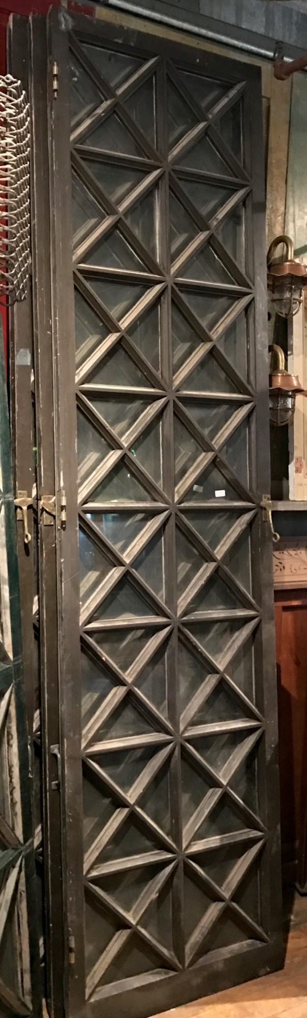 Antique Oak Greek Revival Style Door