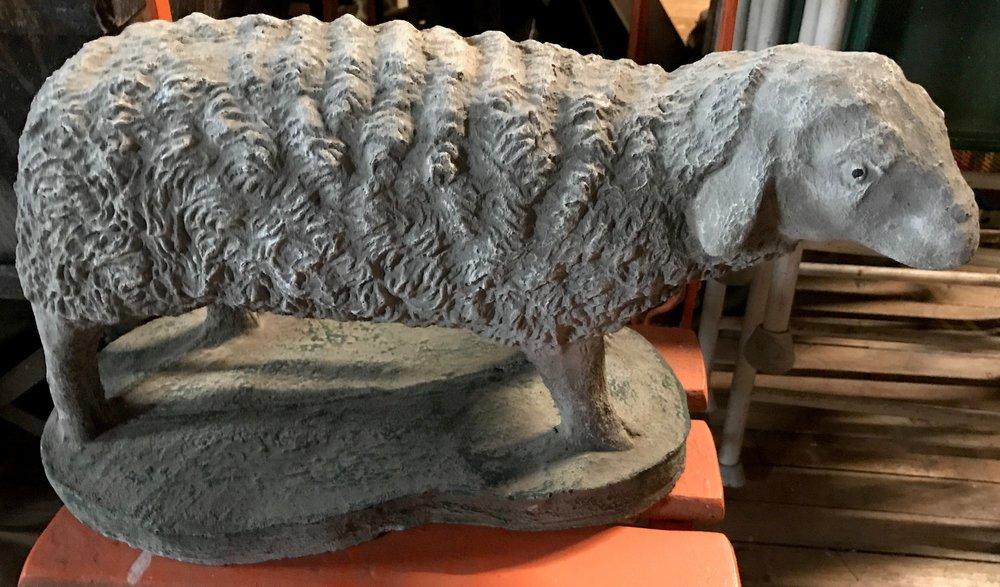 Concrete Sheep Statue
