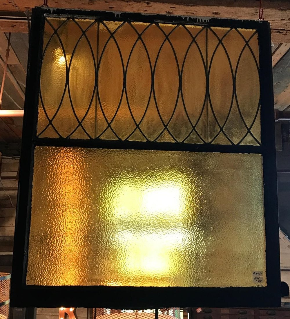 Privacy Leaded Glass Window
