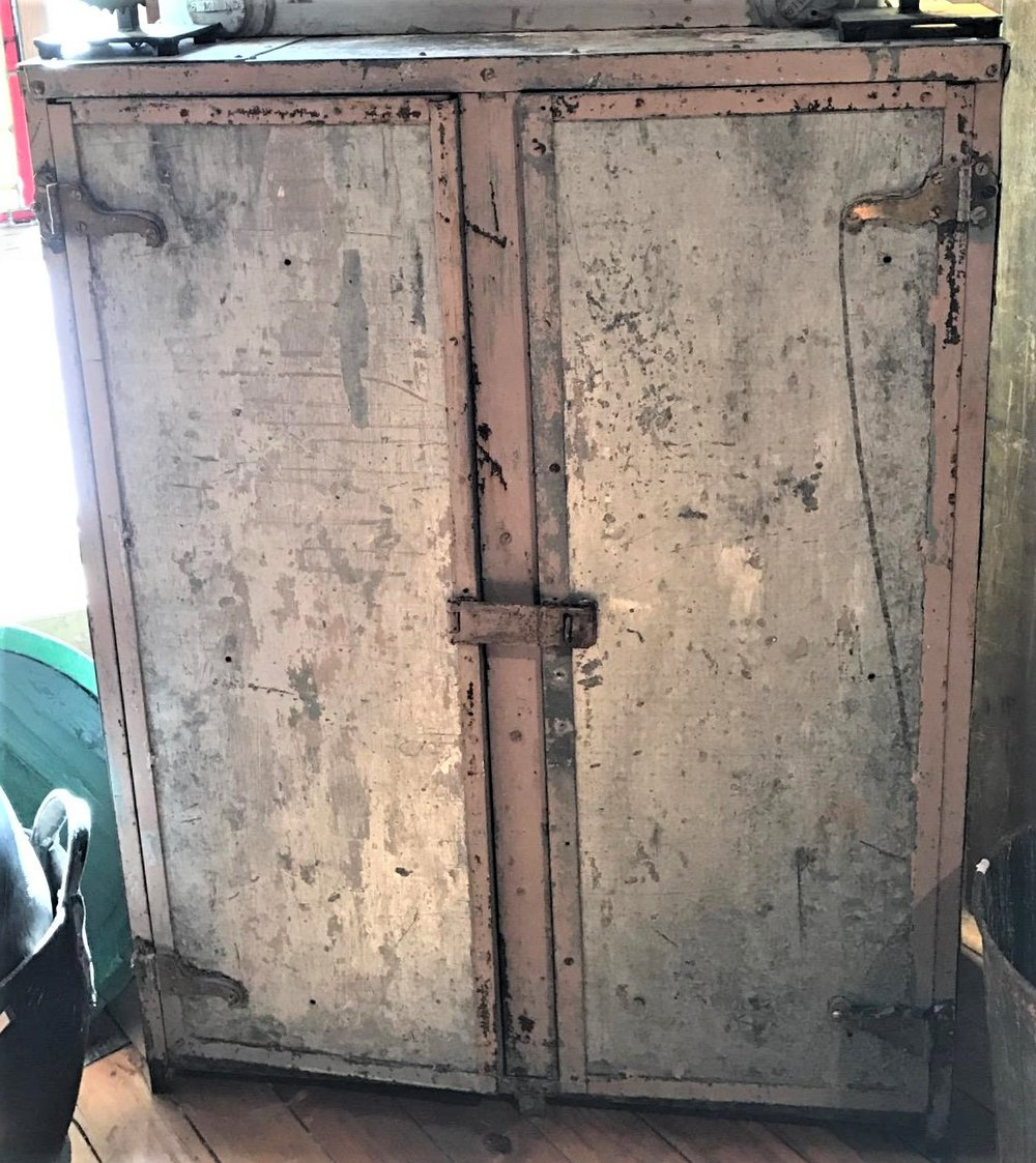 Vintage Metal Industrial Storage Cabinet