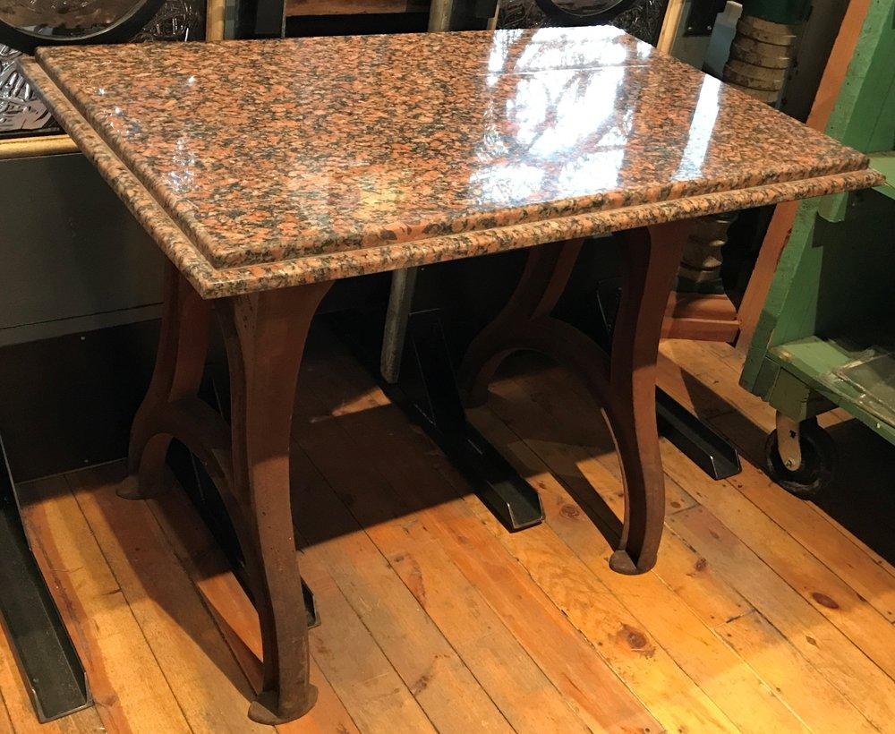 Antique Cast Iron Machine Base Table