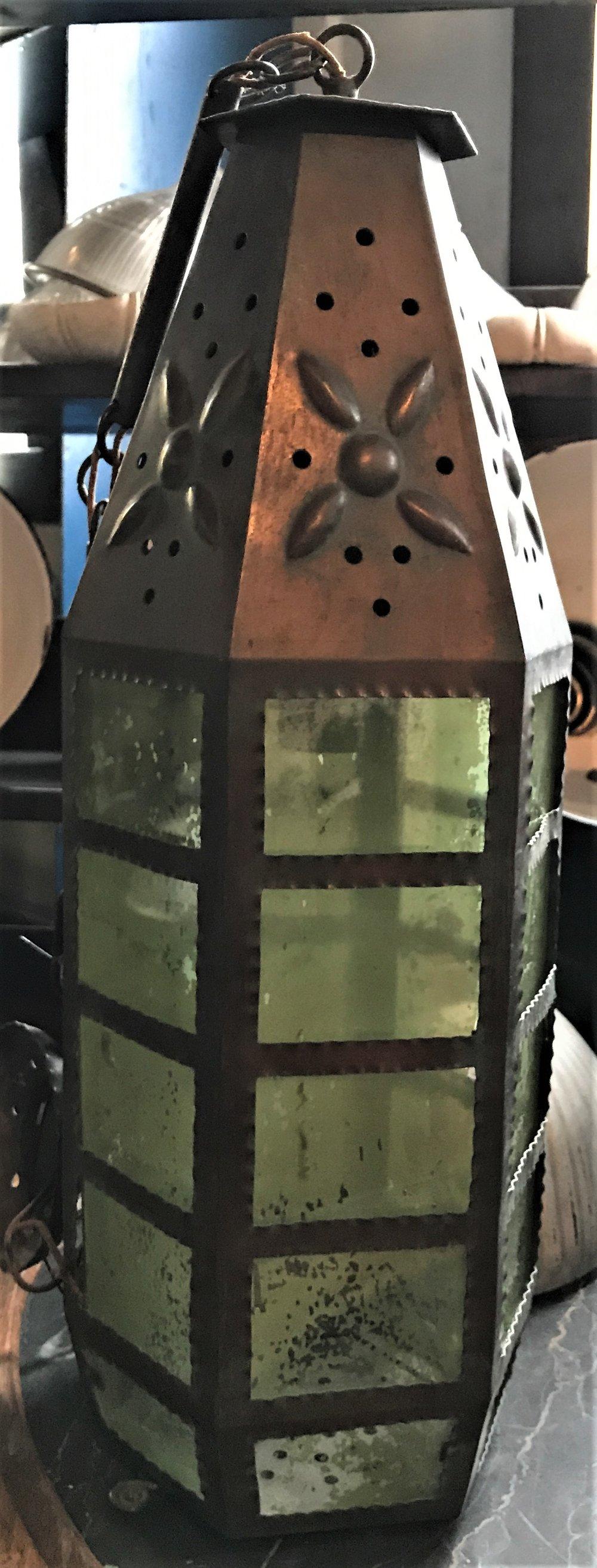 Arts & Crafts Copper Exterior Drop Pendant