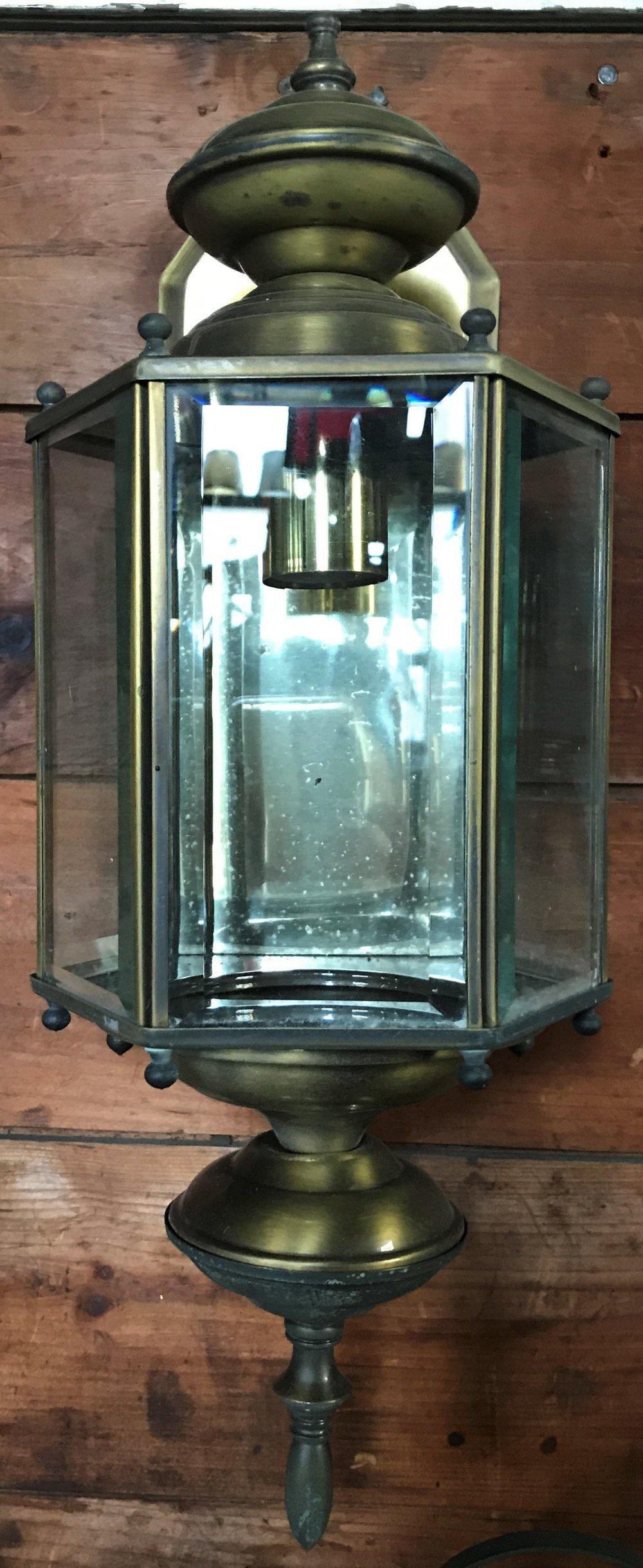 Vintage Brass Exterior Wall Light