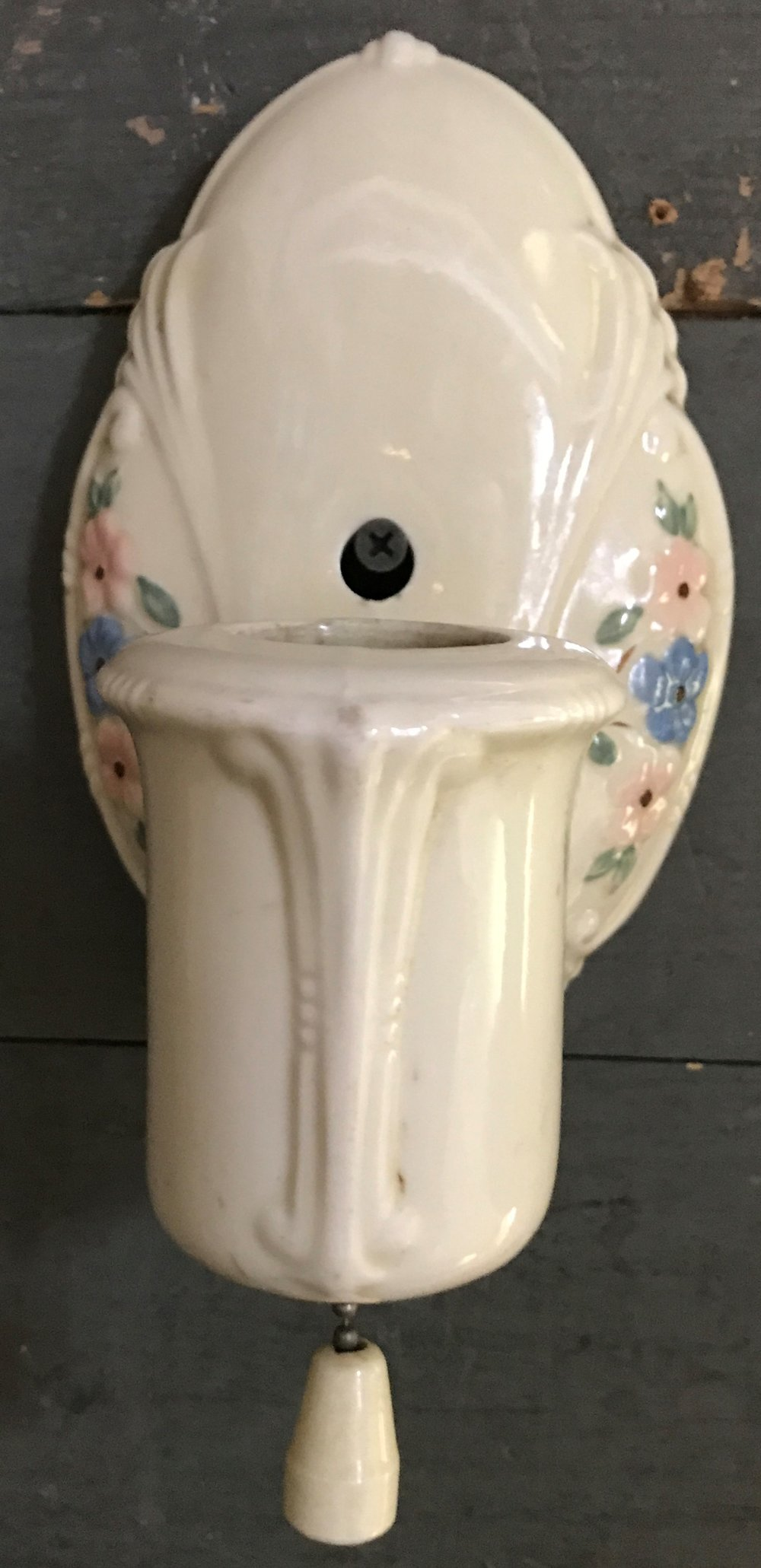 1920's Porcelain Wall Sconce