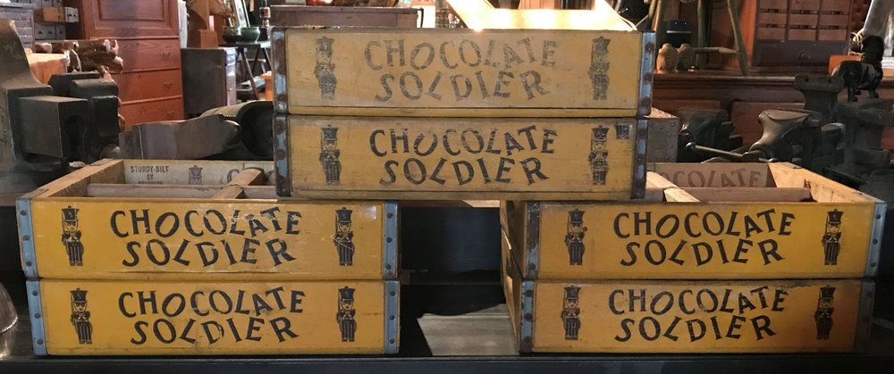 "Vintage ""Chocolate Soldier"" Crates"