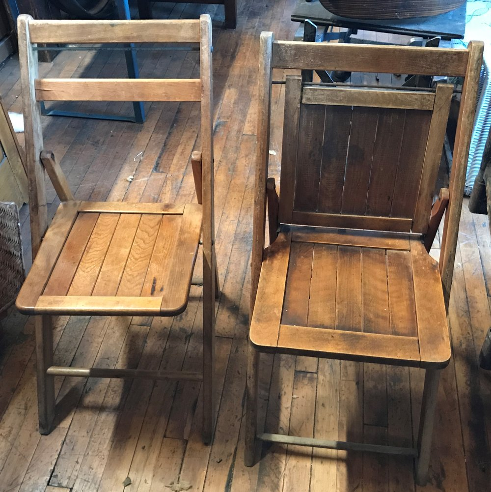 Wood Folding Grange Hall Chairs