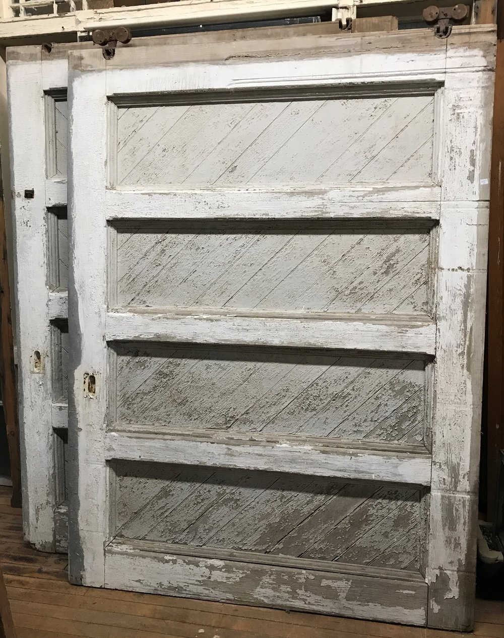 Pair Crusty Large Carriage House Doors