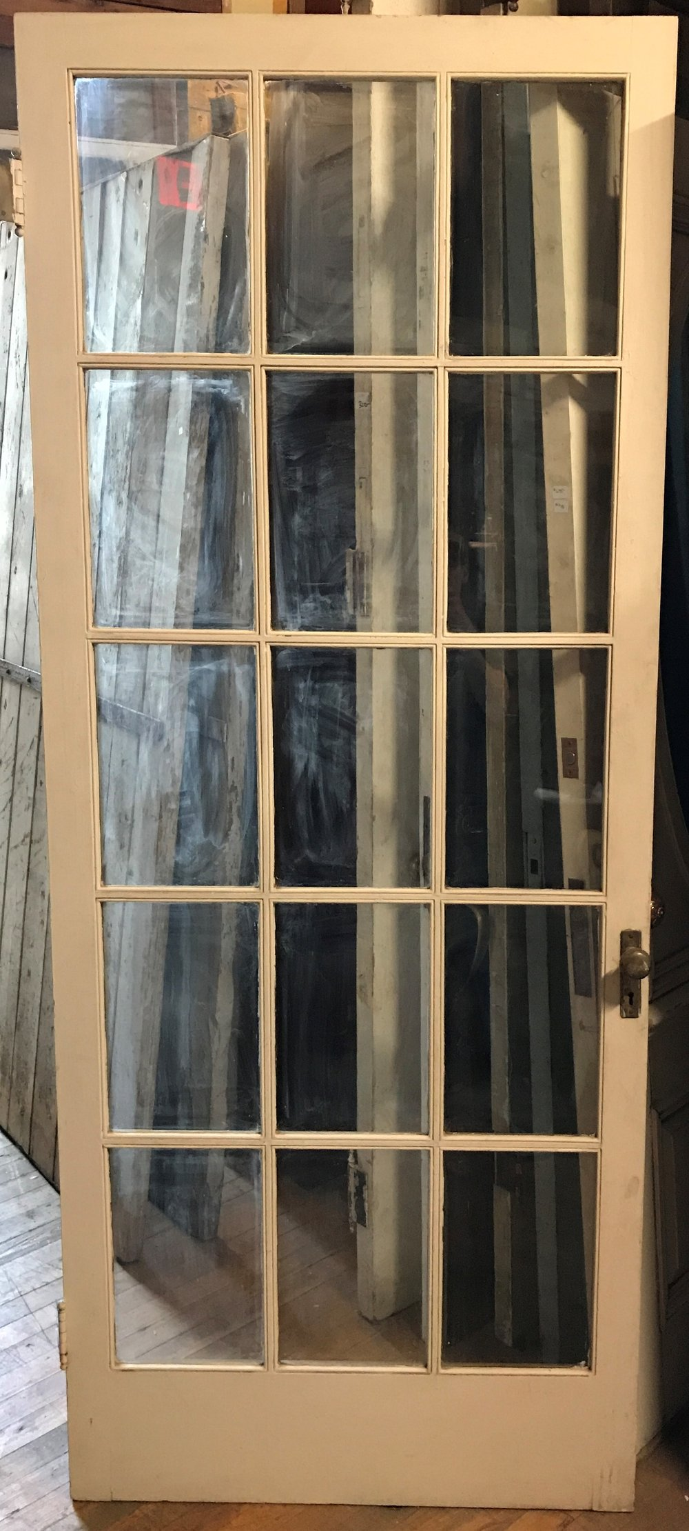 Antique 15 Light French Door