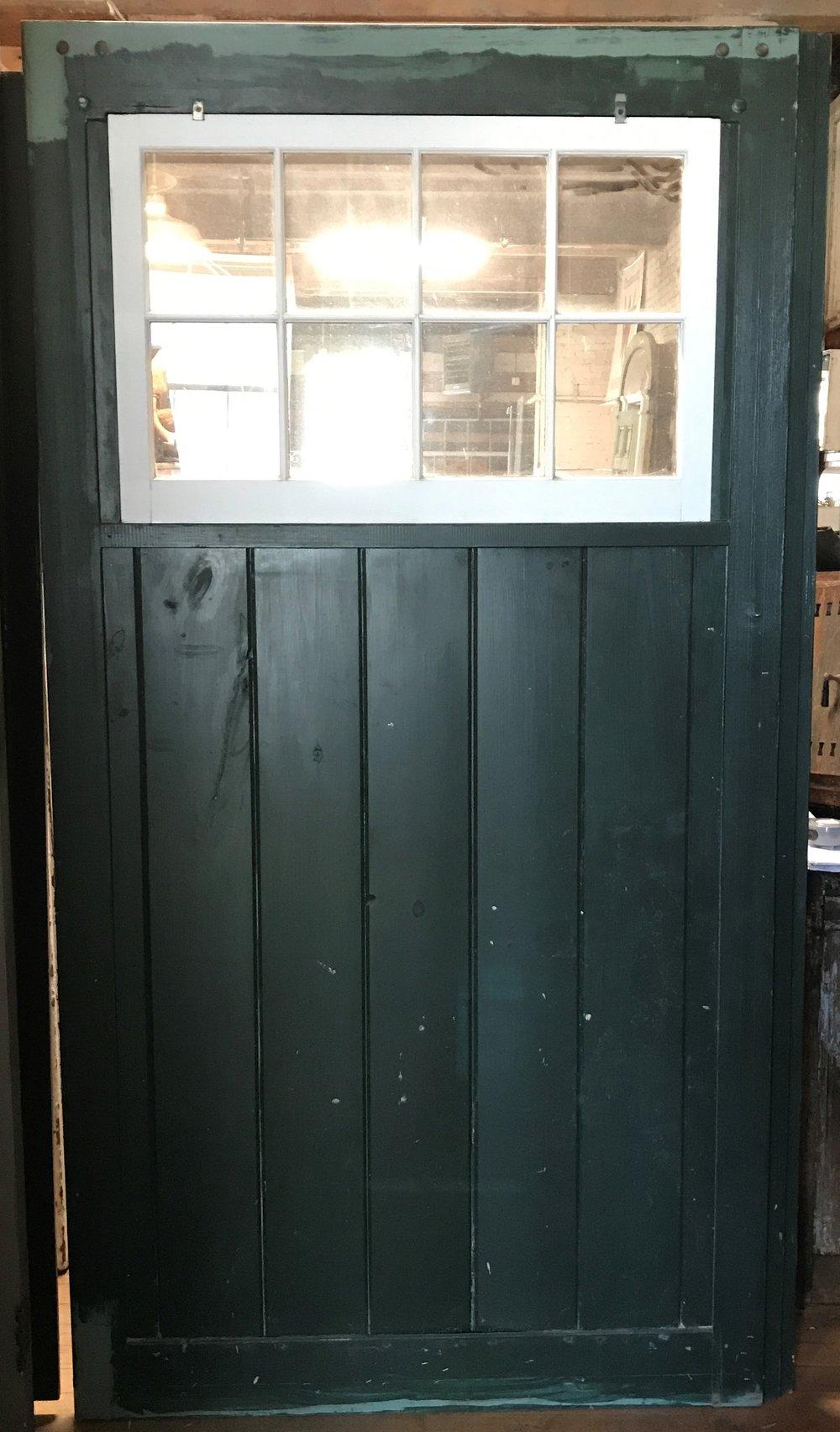 Modern Barn Door with 8 Light Window