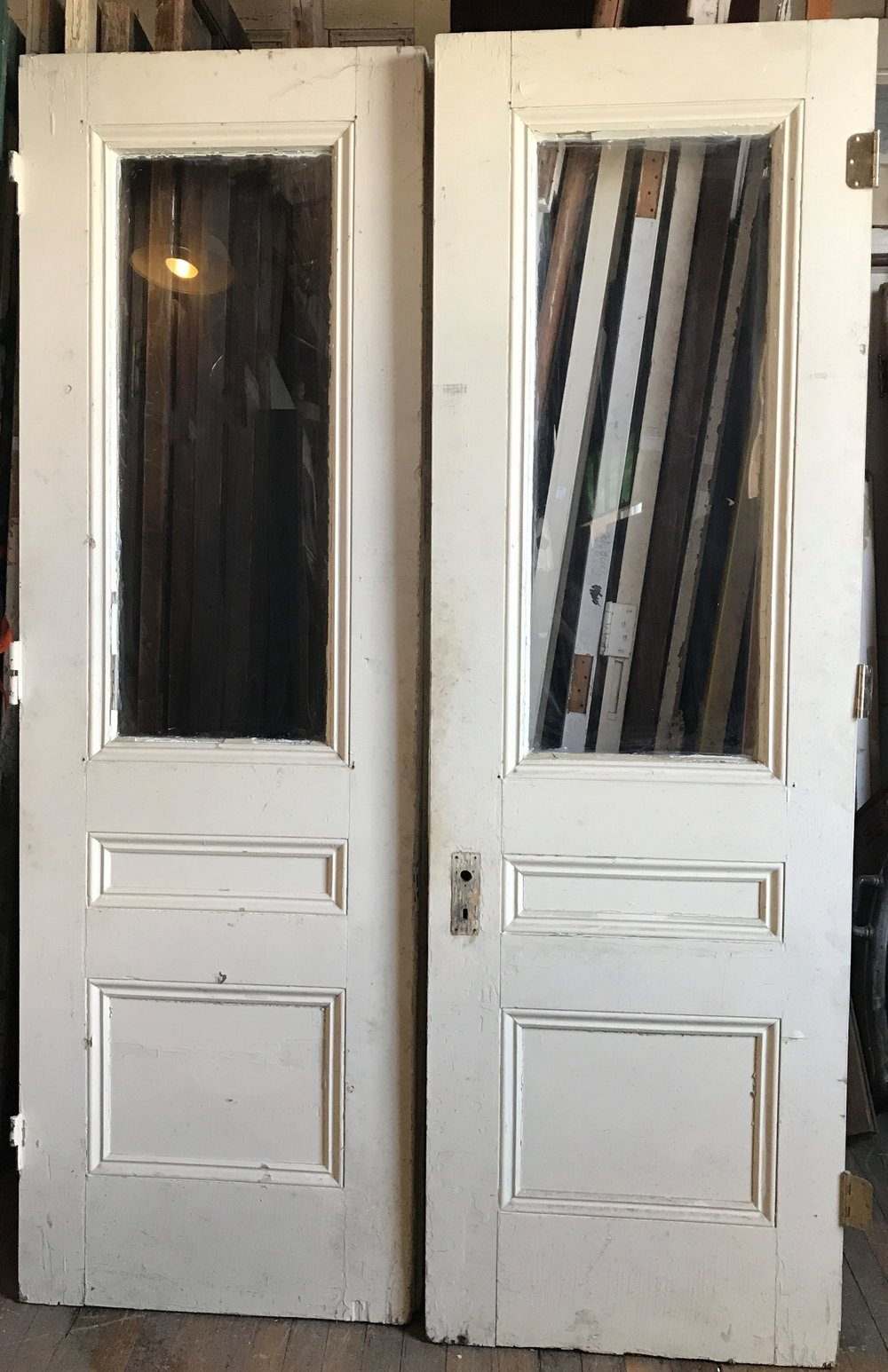 Pair Antique Entry Doors