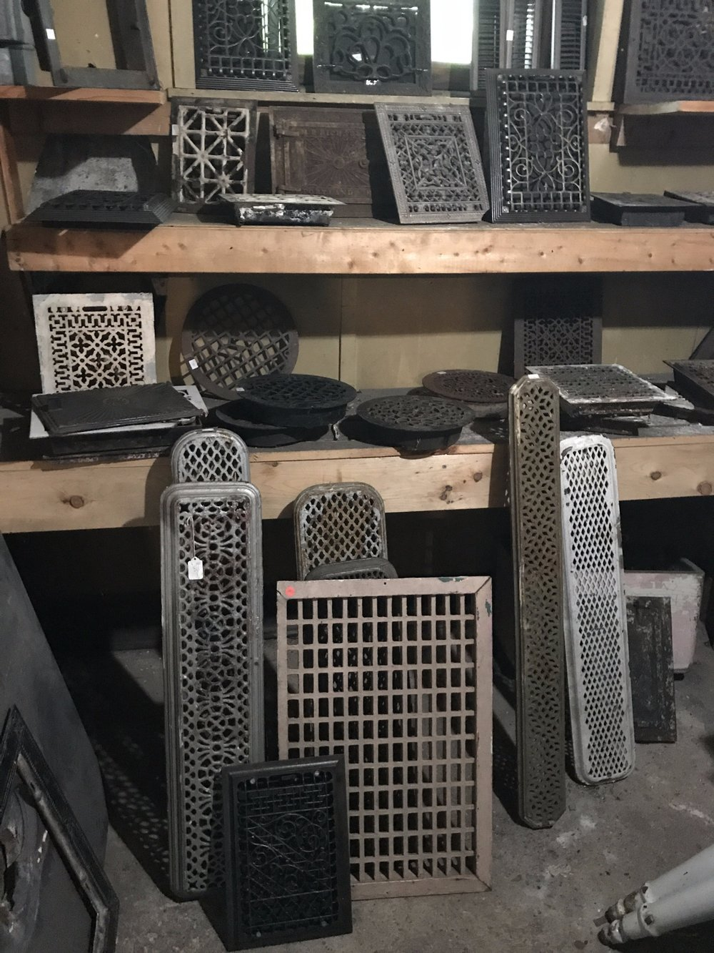 Cast Iron Floor and Wall Heating Grates